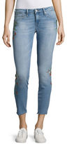 Mavi Jeans Five Pocket Embroidered Floral Skinny Jeans
