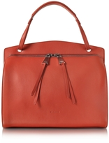 Jil Sander Blunt Open Red Soft Leather Medium Handbag