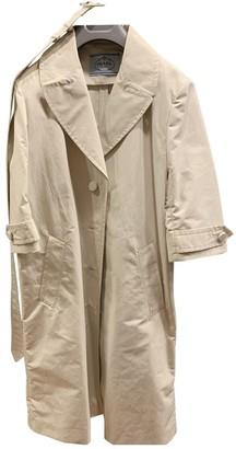 Prada Grey Cotton Trench Coat for Women