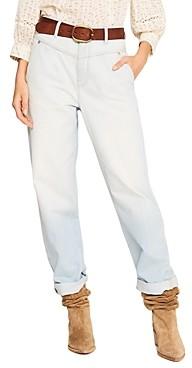 BA&SH ba & sh Eliz High Waisted Straight Leg Jeans in Ciel