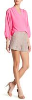 Trina Turk Valera Metallic Silk Blend Short
