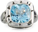 John Hardy Batu Kali Square Blue Topaz Ring, Size 7