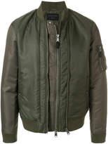 AllSaints padded bomber jacket