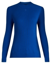 Courreges Roll-neck ribbed-knit sweater