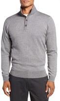 Bobby Jones Birdseye Quarter Button Wool Sweater