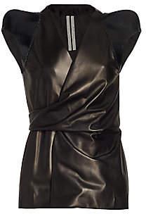 Rick Owens Women's Sleeveless Leather Wrap Jacket
