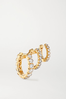 Maria Tash Eternity 18-karat Gold Diamond Hoop Earring