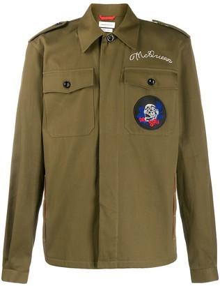 Alexander McQueen Ivy Skull patch shirt jacket