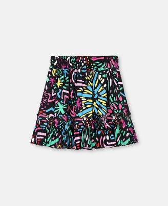 Stella Mccartney Kids Stella McCartney fireworks viscose skirt