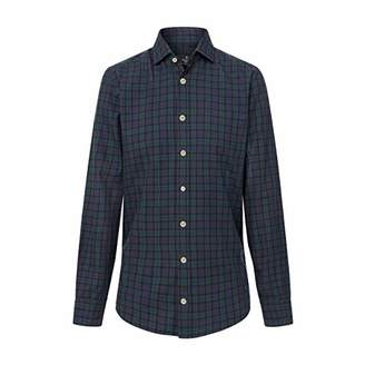 Hackett London Men's Blackwatch Tartan Casual Shirt,Large