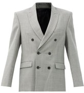 Thumbnail for your product : Wardrobe NYC Houndstooth-check Merino-wool Twill Blazer - Black White