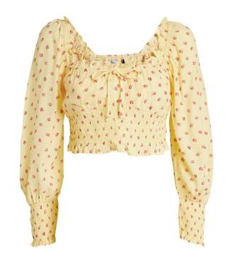Faithfull The Brand Ella Puff-Sleeved Top