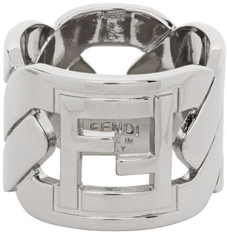 Fendi Silver Forever Chain Ring