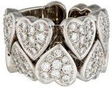 Ring 18K Diamond Heart Link Band