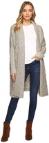 Christin Michaels Zienna Collared Cable Knit Long Cardigan