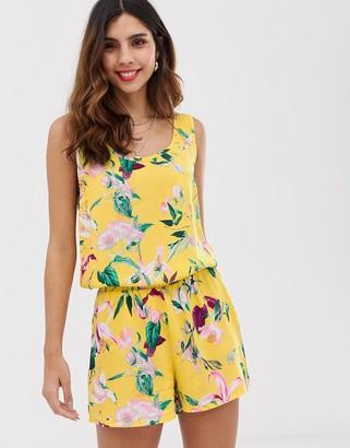 Vero Moda tropical printed cami romper