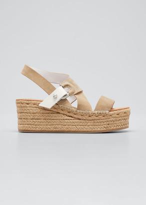 Rag & Bone August Suede Wedge Platform Sandals