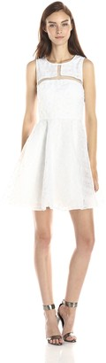 Minuet Women's Scoop Neck Dress with Pleated Skirt