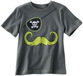 Jumping beans pirate mustache slubbed tee - toddler