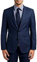 HUGO BOSS HUGO by Hugo Boss C-Huge1 Wool Fil a Fil Slim Fit Suit Jacket, Medium Blue