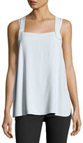 Helmut Lang Fluid Crepe Cross-Back Tank