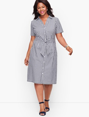 Talbots Plus Size Exclusive A-Line Dress - Gingham