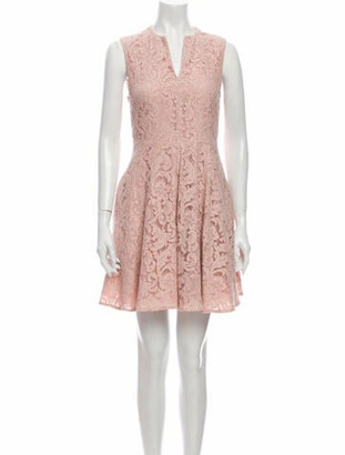 Burberry Lace Pattern Mini Dress Pink