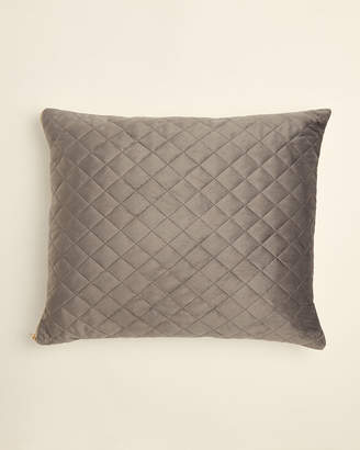 Thro Pewter Jayse Quilted Pillow