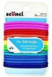 Scunci No Damage Hair Elastics, Assorted Colors 18 ea (Pack of 8)