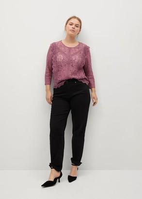 MANGO Lace ruffle blouse