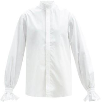 Bourrienne Paris X - New Boudoir Embroidered Cotton-poplin Shirt - White