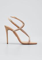 Aquazzura Moondust Shimmery Stiletto Sandals