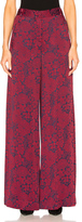 Erdem Birte Trousers in Floral,Red.