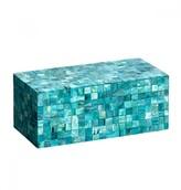 Mela Artisans Congo In Turquoise Decorative Box, Medium
