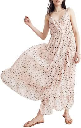 Madewell Ruffle Strap Faux Wrap Dress