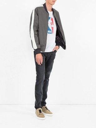 Stella McCartney Two-tone Zipped Bomber Jacket Grey
