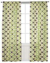Bacati Curtain Panel - Mod Dots - Green/Yellow Chocolate