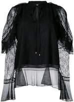 Just Cavalli lace overlay blouse