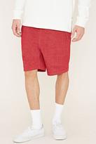 Forever 21 FOREVER 21+ Cotton-Blend Drawstring Shorts