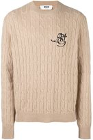 MSGM cable knit jumper - men - Polyamide/Wool - XL