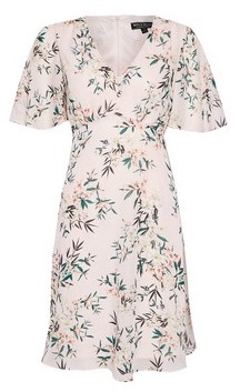Dorothy Perkins Womens **Billie & Blossom Pink Tropical Print Button Front Dress, Pink