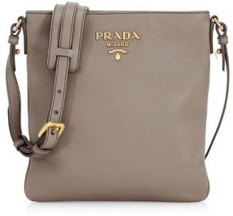 Prada Small Diano Leather Crossbody Bag