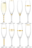 LSA International Metallic Champagne Flutes (Set of 8)