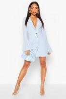 boohoo Flared Sleeve Blazer Dress
