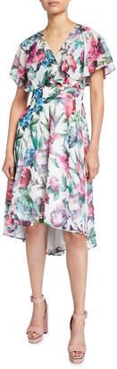 Maggy London Butterfly-Sleeve Midi Dress