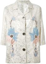 Antonio Marras embroidered blazer - women - Cotton/Polyester/Viscose - 40
