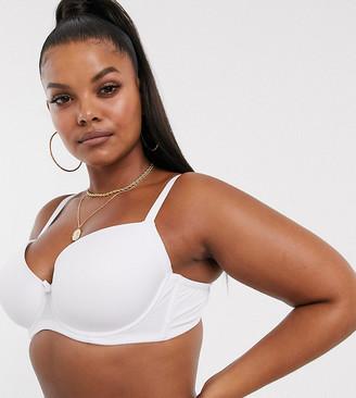 Ivory Rose Lingerie Ivory Rose Curve plain t-shirt bra in white