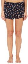 Araks Women's Tia Leaf-Print Silk Pajama Shorts-NAVY