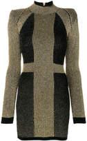 Balmain stretch knit mini dress