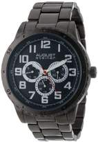 August Steiner Men's Quartz Watch with Black Dial Analogue Display and Black Alloy Bracelet AS8060BK